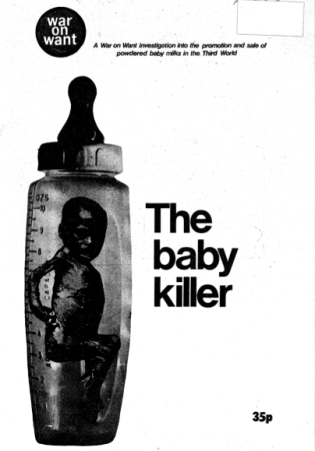 War on Want's 1974 booklet 'The baby killer', cover